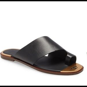 Tory Burch Shelby Toe Ring Slide Sandal NWOB